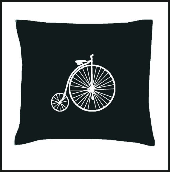 Vintage Bicycle Cushion Cover by Pokkki on Etsy,