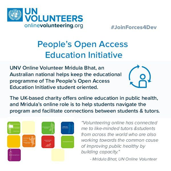 This #UK charity engaged online #volunteers two build capacity four #publichealth in developing countries #JoinForces4Dev onlinevolunteering.org