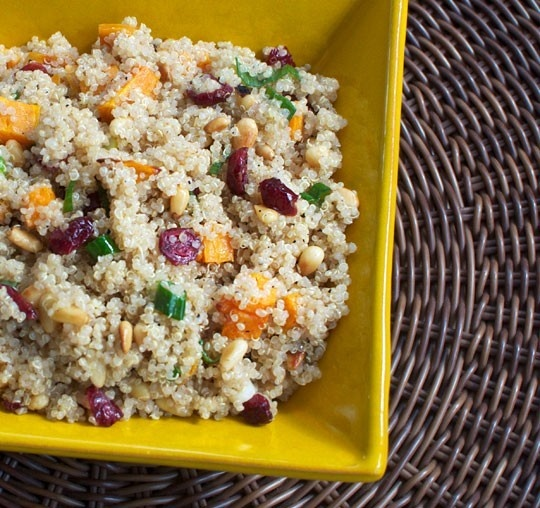 Passover friendly quinoa salad. cooking