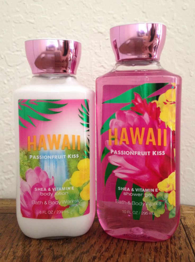 New Bath and Body Works HAWAII Passionfruit Kiss Body Wash & Body Lotion