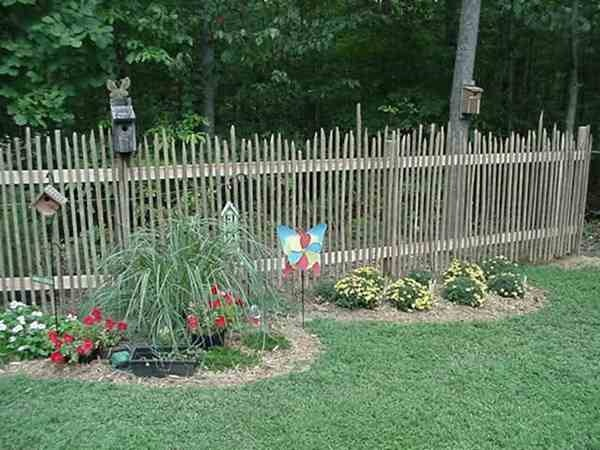Tobacco Stick Fence Primitive Flowers And Gardens