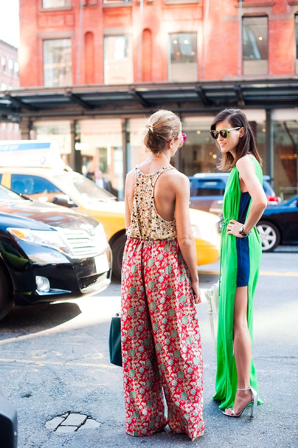 blue and green!: Vanessa Jackman, Maxi Dresses, Blue Outfits, Bright Outfits, Fashion Week, Street Style, New York Fashion, The Dresses, Green Dresses