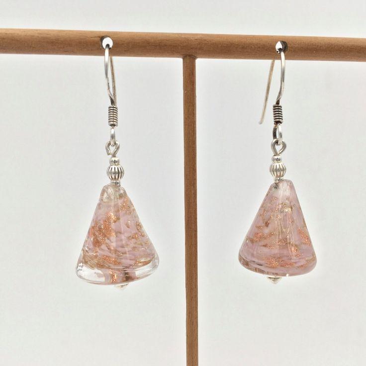 Pendientes en plata y cristal de Murano de NAUTArt en Etsy