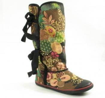 Sugar Shoes Morigami Boot Asian Floral 53560-77/270