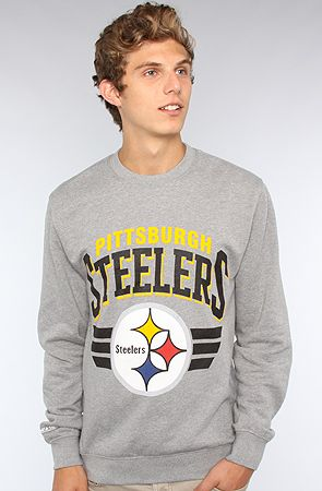 Mitchell & Ness The Pittsburgh Steelers Sweatshirt in Gray Yellow : Karmaloop.com - Global Concrete Culture
