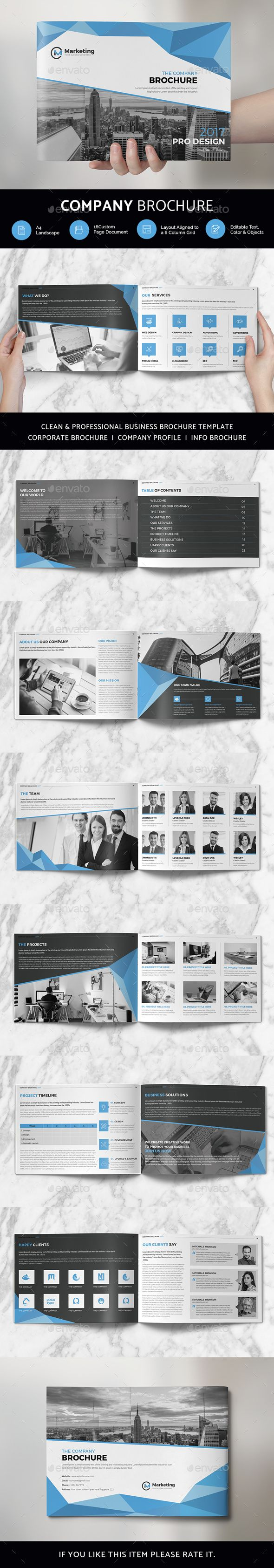 #Company #Brochure - Print Templates Download here: https://graphicriver.net/item/company-brochure/19728942?ref=alena994