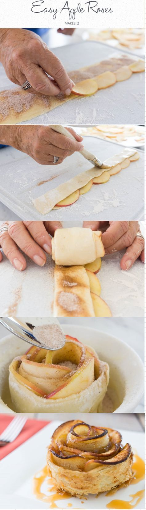 Easy Apple Roses I A fun alternative to traditional apple pie.