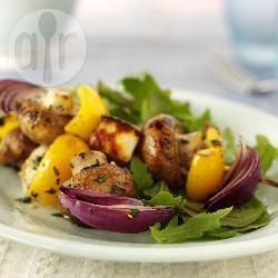 Halloumi and mushroom kebabs @ allrecipes.co.uk