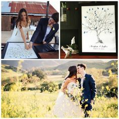 Fingerprint Tree Wedding Guest Book Alternative. Photography by Lisa Mallory Photography.
