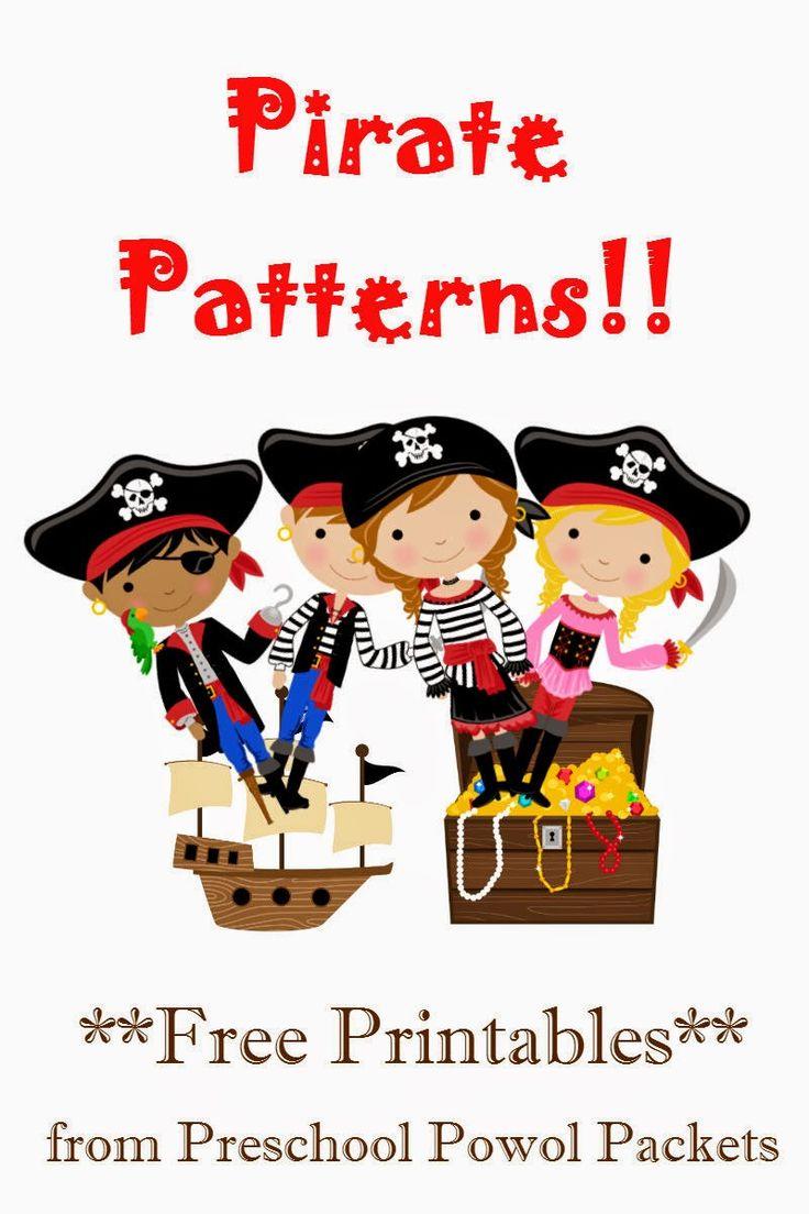#free #pirate patterns #preschool packet!!