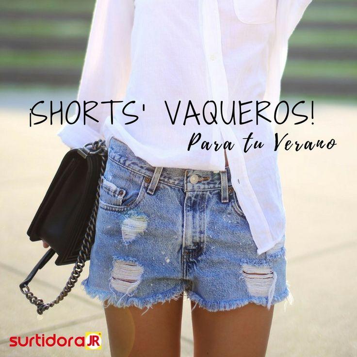 """¡El verano llegó! Es momento de ir a tu armario y ponte tus """"shorts de denim"""", no importa como sean siempre podrás presumir con unos lentes de sol, sombreo y abanico 👀💖"""