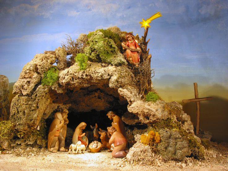 Cave Nativity Scene