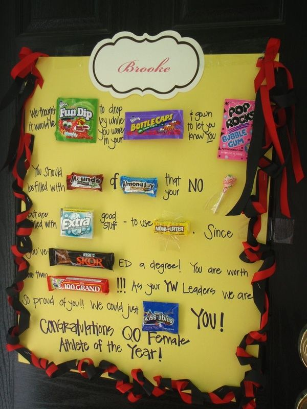 graduation gift candy card