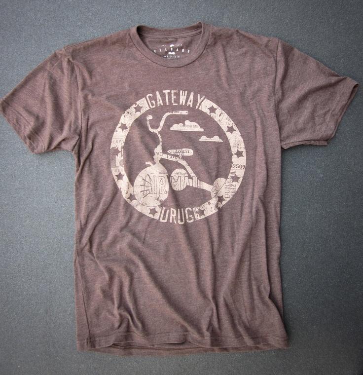Guys Espresso Hand Screen Printed Short Sleeve T-Shirt Gateway Drug Design. $25.00, via Etsy. Clothing Tshirt Screenprint Bicycle Bike Velo Fixie Hipster TShirt Cycling Clothing Track Velodrome Cycle t shirt pista