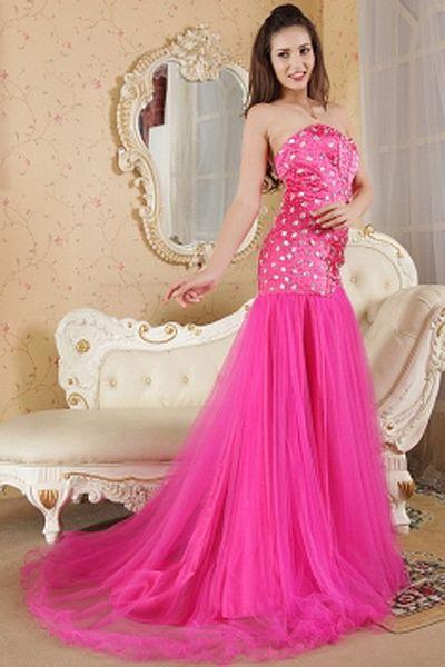 Une Épaule Robes De Satin Rose Célébrités rdc1314 - Silhouette: Gaine / Colonne; Tissu: Satin, Perles Embellissements:, Cristal, Longueur: Balayage / Train Brosse - Price: 166.24 - Link: http://www.robesdeceremonies.com/une-epaule-robes-de-satin-rose-cele