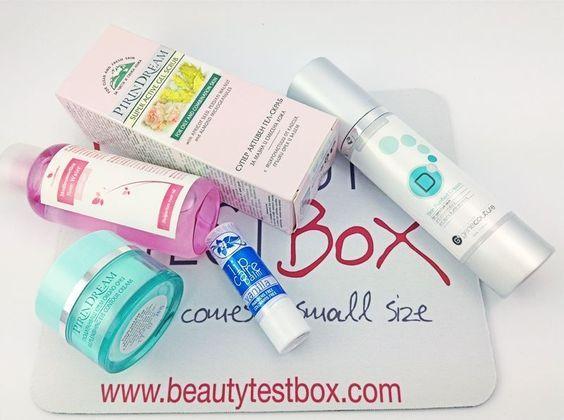 Toner: http://www.beautytestbox.com/medicosmetics-rose-water-100-ml Peeling: http://www.beautytestbox.com/pirindream-super-active-gel-scrub-50ml Night Cream: http://www.beautytestbox.com/gene-couture-d5-skin-purified-cream-50ml Eyes Cream: http://www.beautytestbox.com/pirindream-replenishing-eye-con...