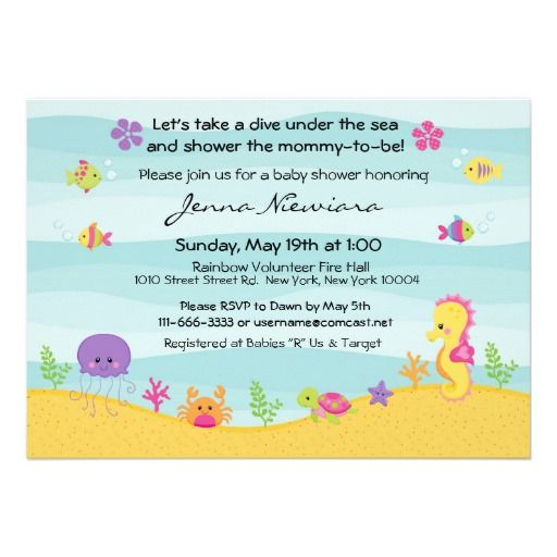 best baby shower invitations fish images on   baby, Baby shower invitation