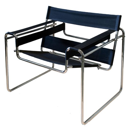 Wassily chair, 1925 by Marcel Breuer. Bauhaus architect and designer.