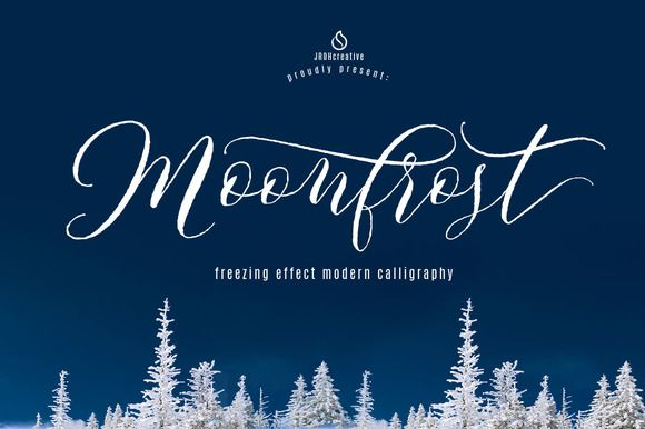 Moonfrost Script by JROH Creative on @creativemarket. Price $16 #scriptfonts #calligraphicfonts #handwrittenfonts