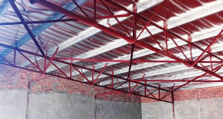 steel structure erected