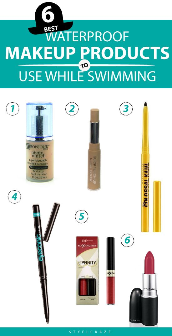 6 Best Waterproof Makeup Products To Use While Swimming
