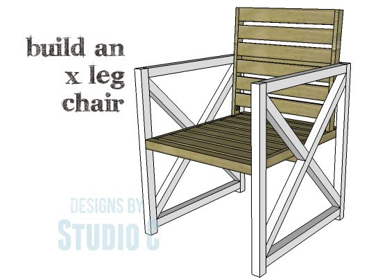DIY Plans to Build an X Leg Chair This easy to build chair can actually be  used indoors or outdoors  The DIY plans to build an X Leg Chair feature  side  110 best Patio Chair Plans images on Pinterest   Outdoor furniture  . Patio Chair Building Plans. Home Design Ideas