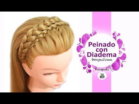 Peinados Faciles y Rapidos y Bonitos con Trenzas para Pelo Chino para Graduacion - YouTube