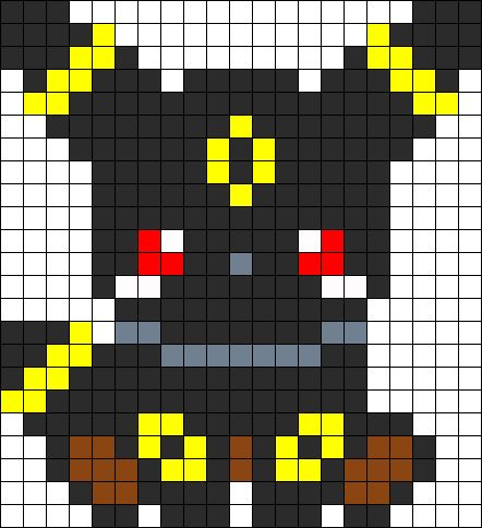 38 best pixel pokemon images on pinterest hama beads for Umbreon pixel art template