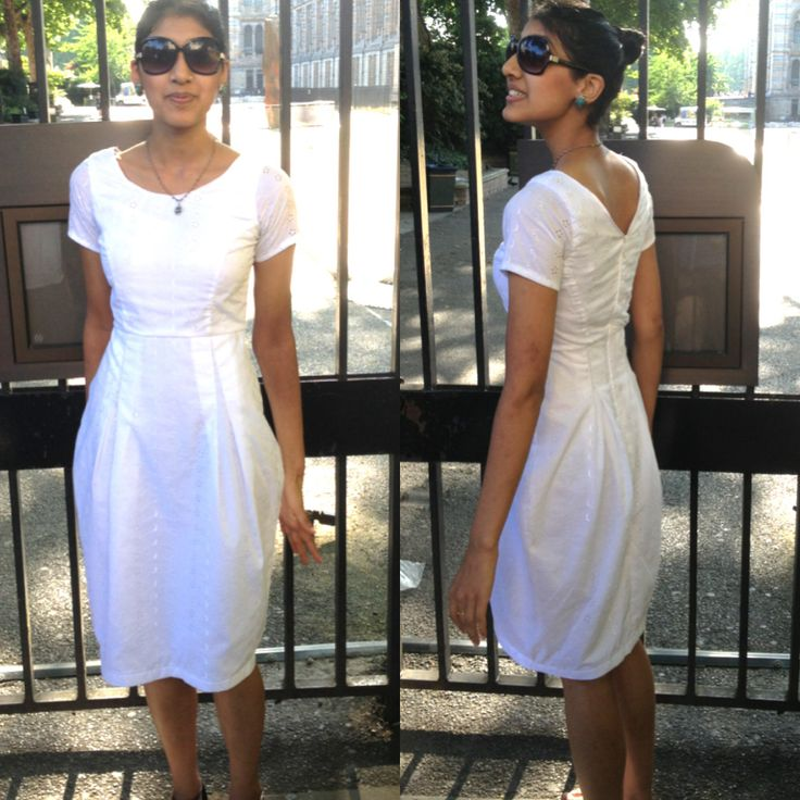 My first made dress! The Elisalex dress pattern courtesy of @By Hand London