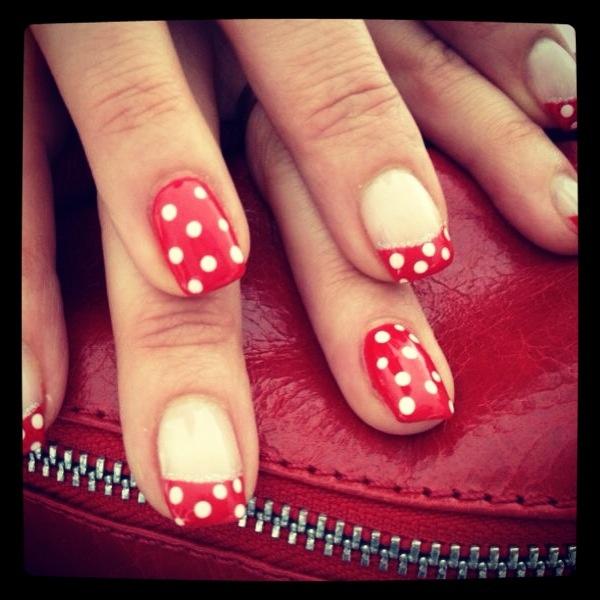 Polka dotted #nails #nailart by Nail Desire