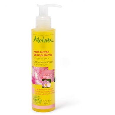Révolutionnez votre rituel beauté avec une huile démaquillante MELVITA à la rose qui se transforme en lait au contact de l'eau !