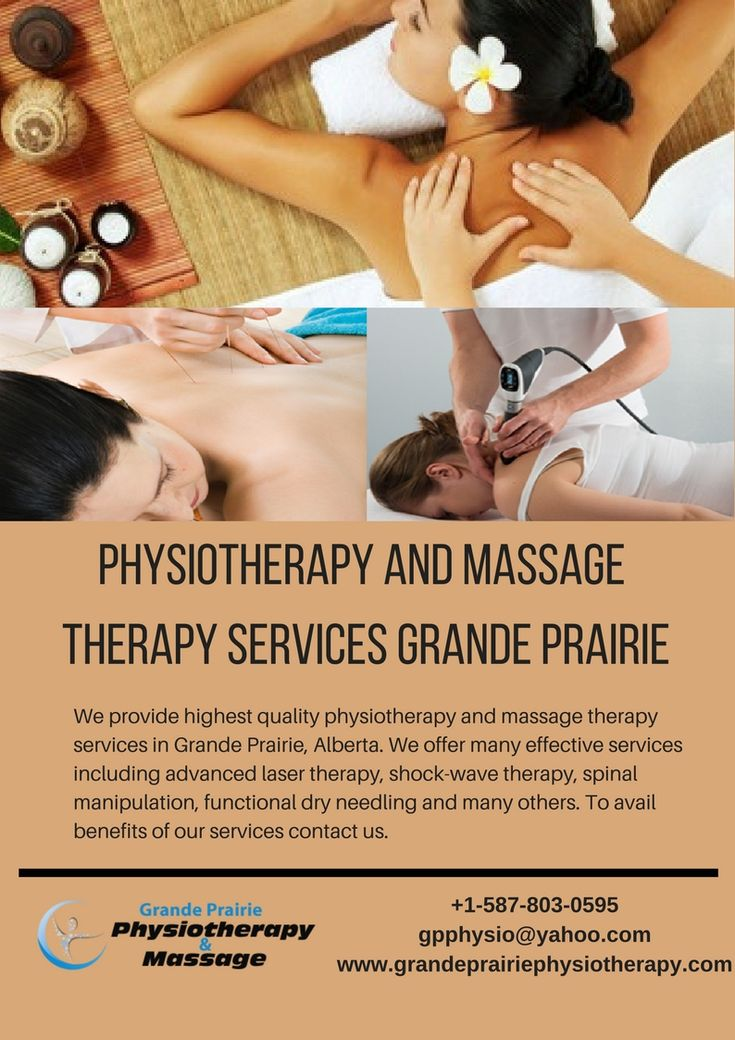 We provide highest quality #physiotherapy #and #massage #therapy #services in #Grande #Prairie, Alberta. We offer many effective services including advanced laser therapy, shock-wave therapy, spinal manipulation, functional dry needling and many others. To avail benefits of our services #contact #us. http://grandeprairiephysiotherapy.com