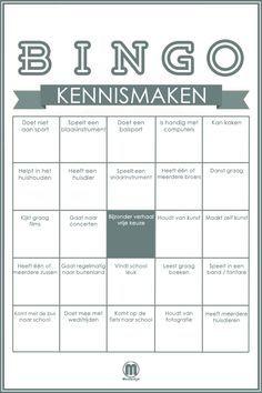 Leer je nieuwe klas kennen met deze bingo.