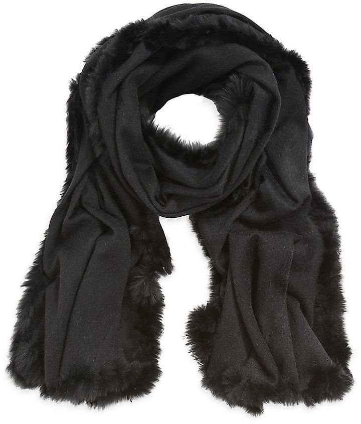 Harrods chose this black Colombo Cashmere Wrap for its estore - as seen on shopstyle.co.uk