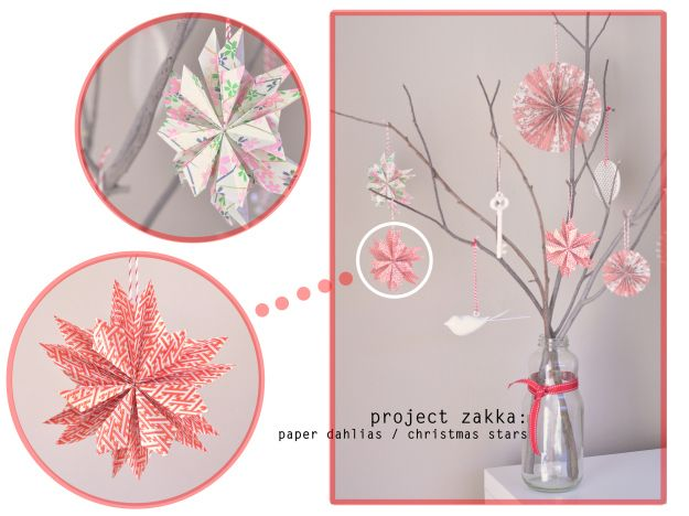 Fold these paper flowers. | 33 Adorable And Creative DIY Ornaments