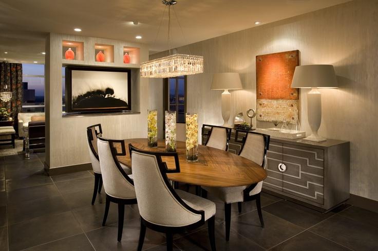 Contemporary Dining Room & Artwork by Featured Designer Megan Crane