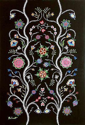 Christi Belcourt Showcase n.d. Classic Métis styling, needle and bead work. JE