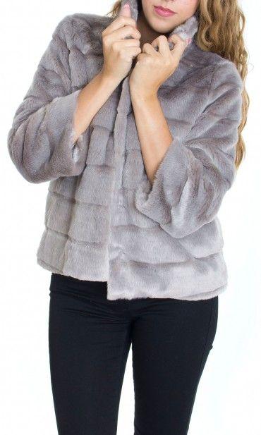 Trussardi Jeans | Pelliccia Trussardi Jeans Donna Ecologica Col. Grigio - Shop Online su Dursoboutique.com 56S62