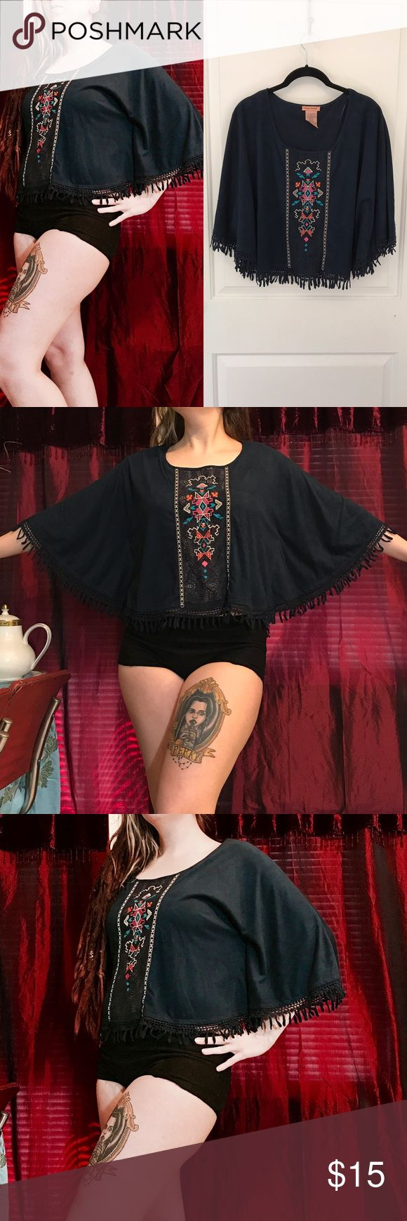 Aztec batwing top Aztec, gypsy, batwing top. Very very soft material. Forever 21, Wet Seal, Rat Baby, Alternative Fashion, Gypsy Warrior, Hot Topic, Maurice's, Nasty Gal Check out my other listings and bundle to save! 💀👻 🖤💕 Offers welcome 💕🖤 Flying Tomato Tops Tunics