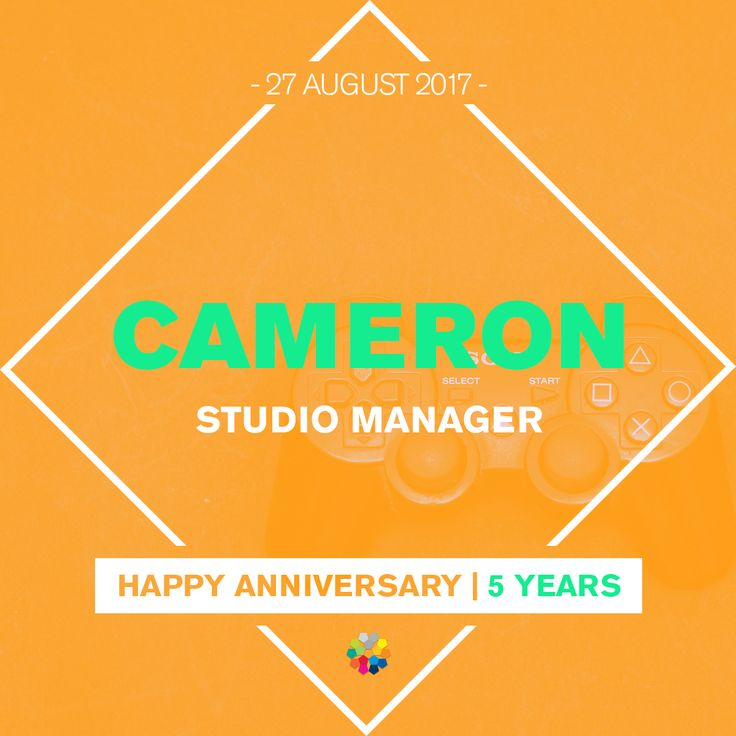 Thanks for keeping the studio together Cameron! #workiversary #anniversary
