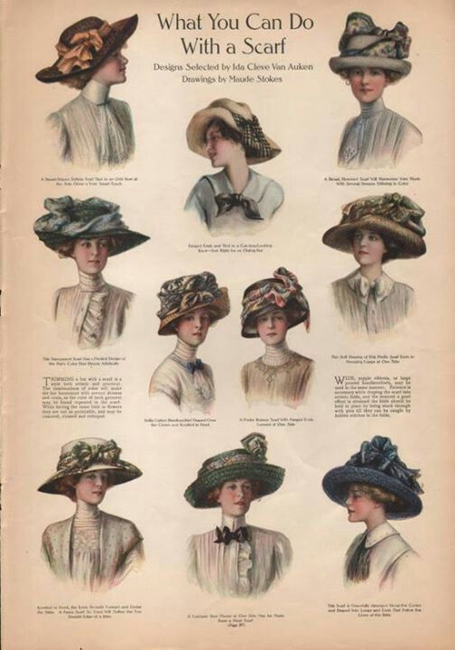 Lady hat fashion, 1910