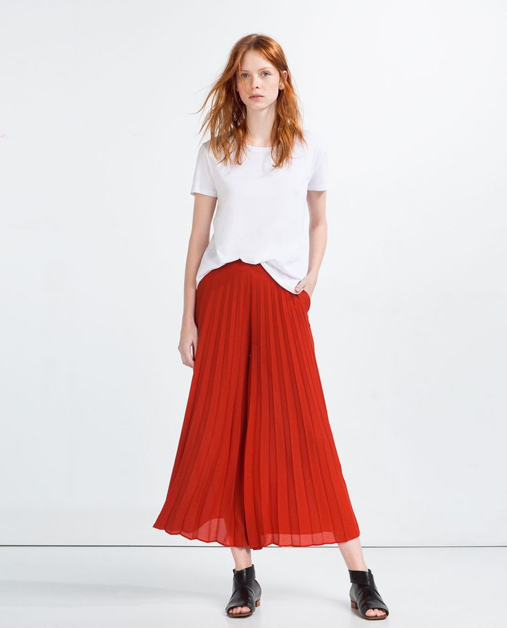 Image 1 of FRONT PLEATED CULOTTES from Zara
