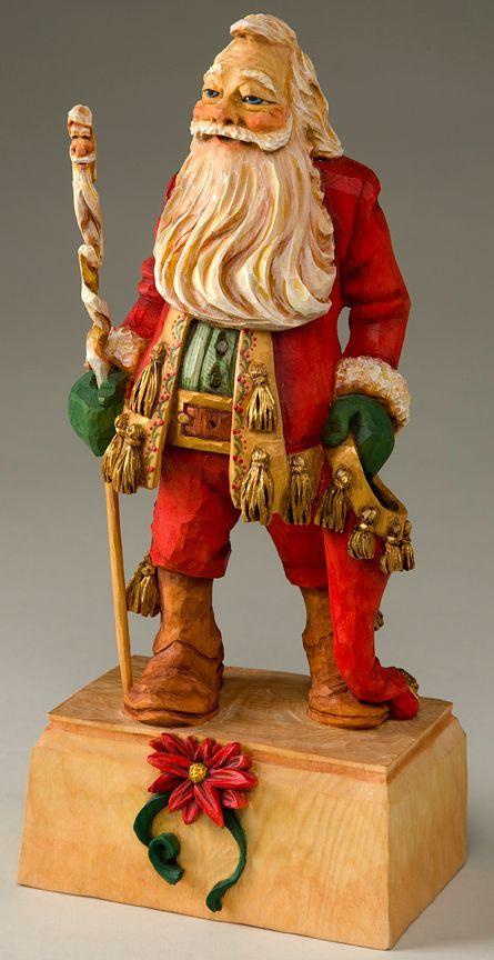 Best images about santa carvings on pinterest folk