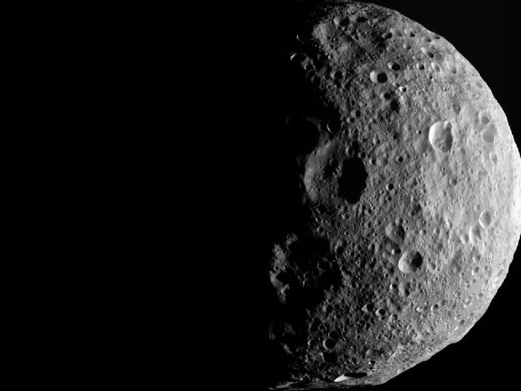 Vesta: Shadows of the North    The shadowy outlines of the terrain in Vesta's northern region are visible in this image from NASA's Dawn spacecraft. Image credit: NASA/JPL-Caltech/UCLA/MPS/DLR/IDA