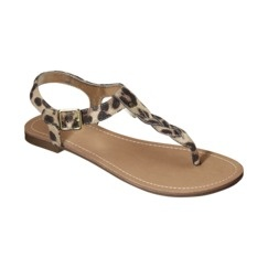 3a91b796385 Women s Merona® Erin Braided Upper Sandal - Leopard Quick Information