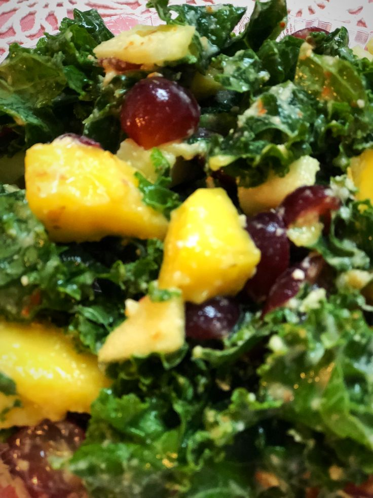 Eat Your Greens Kale and Fruit Salad