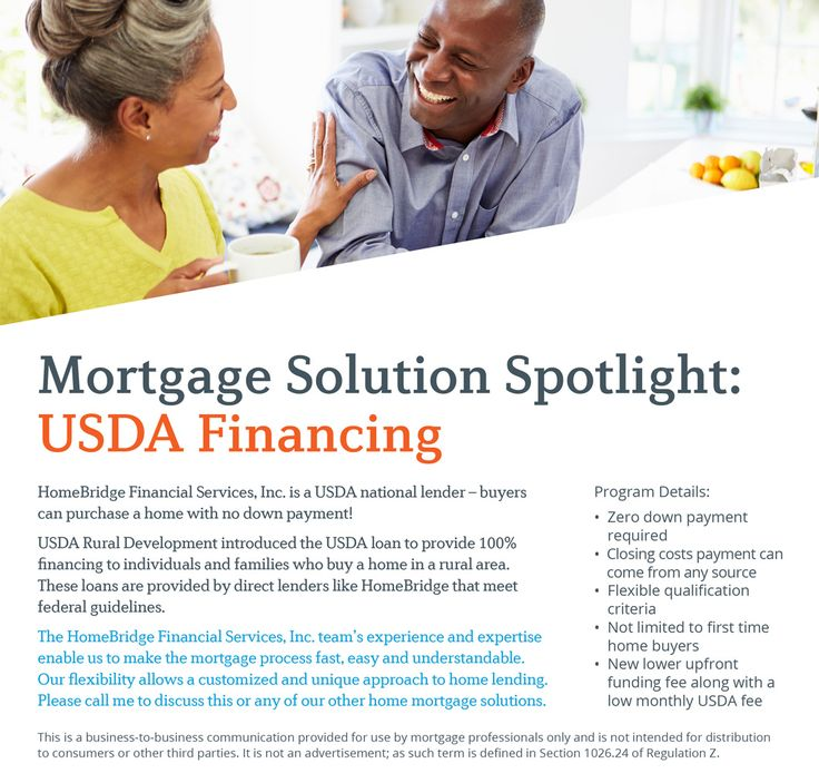 USDA Financing  Dean Bendall, Mortgage Loan Originator, NMLS #222267