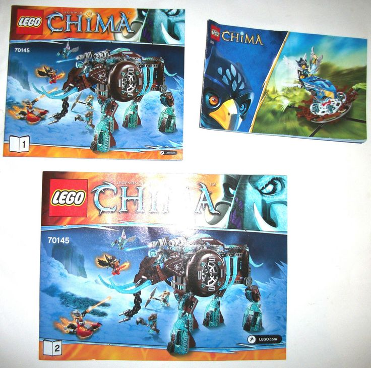 > > > $10.80 < < <  #ebay #legos #chima #thelegendsofchima #legochima #ninjago #legoninjago #Lego Chima 70145 Maula's Ice Mammoth Stomper  INSTRUCTION MANUAL 2014 70105 Set