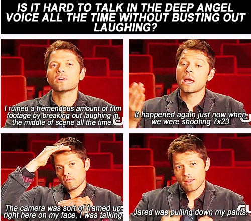 Misha speaks in depth about the difficulties of filming certain scenes on SPN...