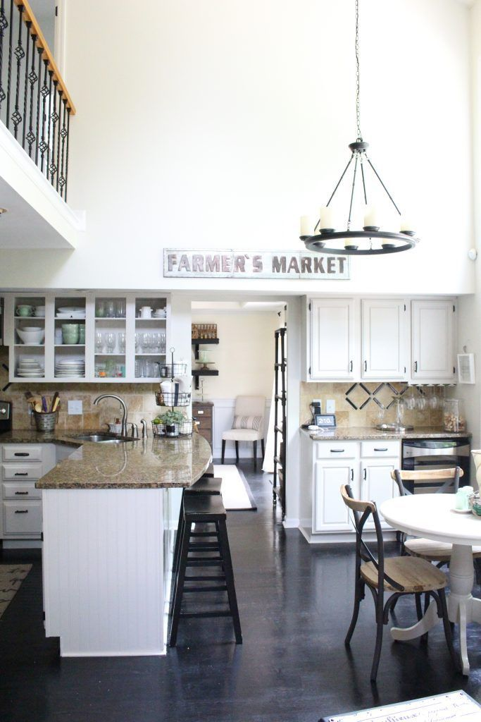 A Fresh White Kitchen | My Life From Home- Room by Room- kitchen- home decor- Do it Yourself- DIY- DIY projects- room design- rustic home decor- decoration ideas- room decor ideas- white kitchen- painted cabinets- farmhouse kitchen